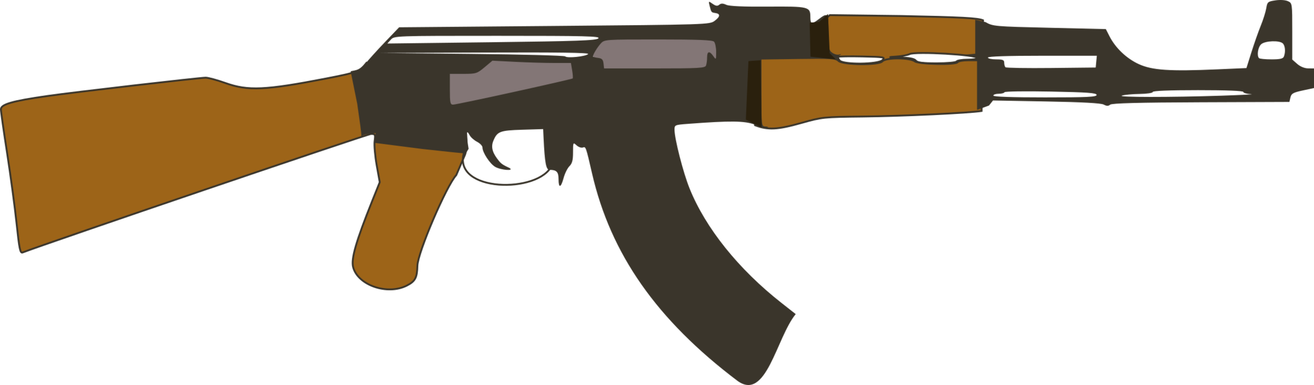 Ak clip. Rifle automatic firearm weapon