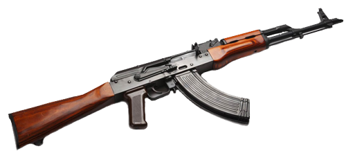 Transparent rifle russian. Assault nine isolated stock