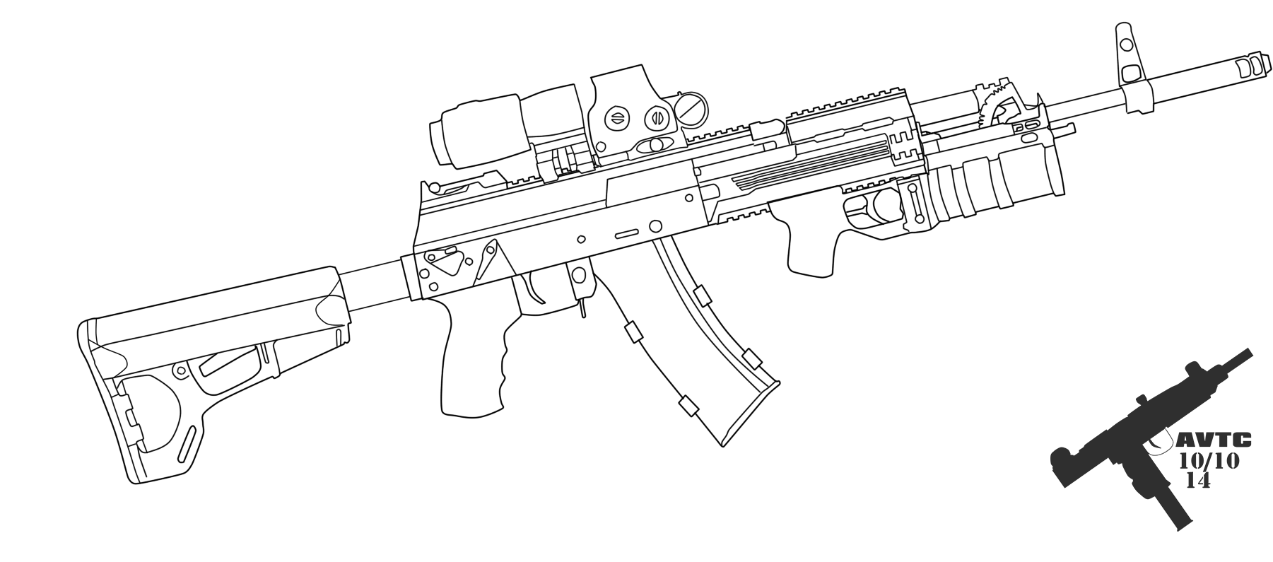 Ak drawing weapon. Tactical by kaymanovite on