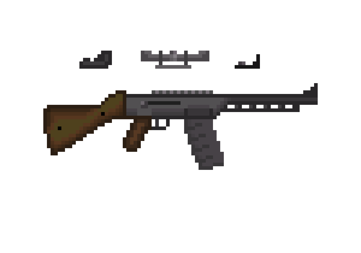 Ak drawing assault rifle. Pixilart with multiple sights