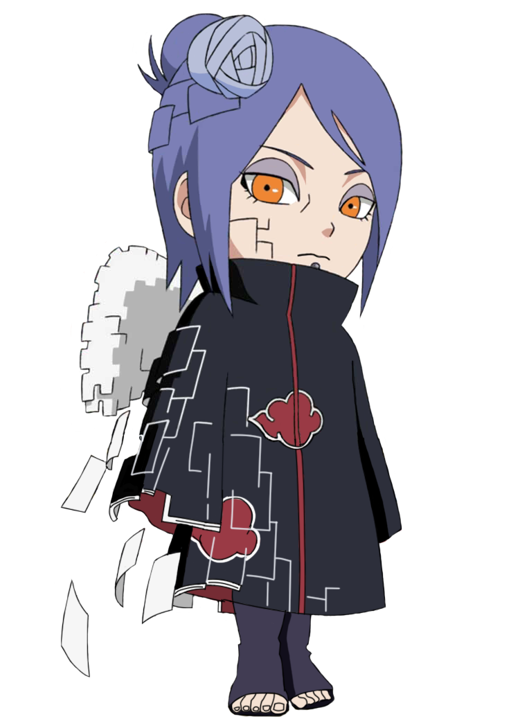 Akatsuki drawing chibi. Konan by matheusinhaia naruto