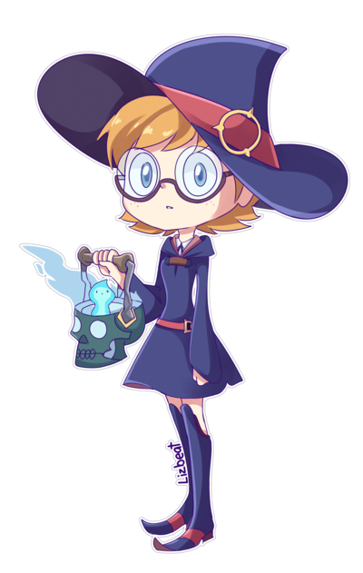 Akko little witch academia png. Lotte yanson from