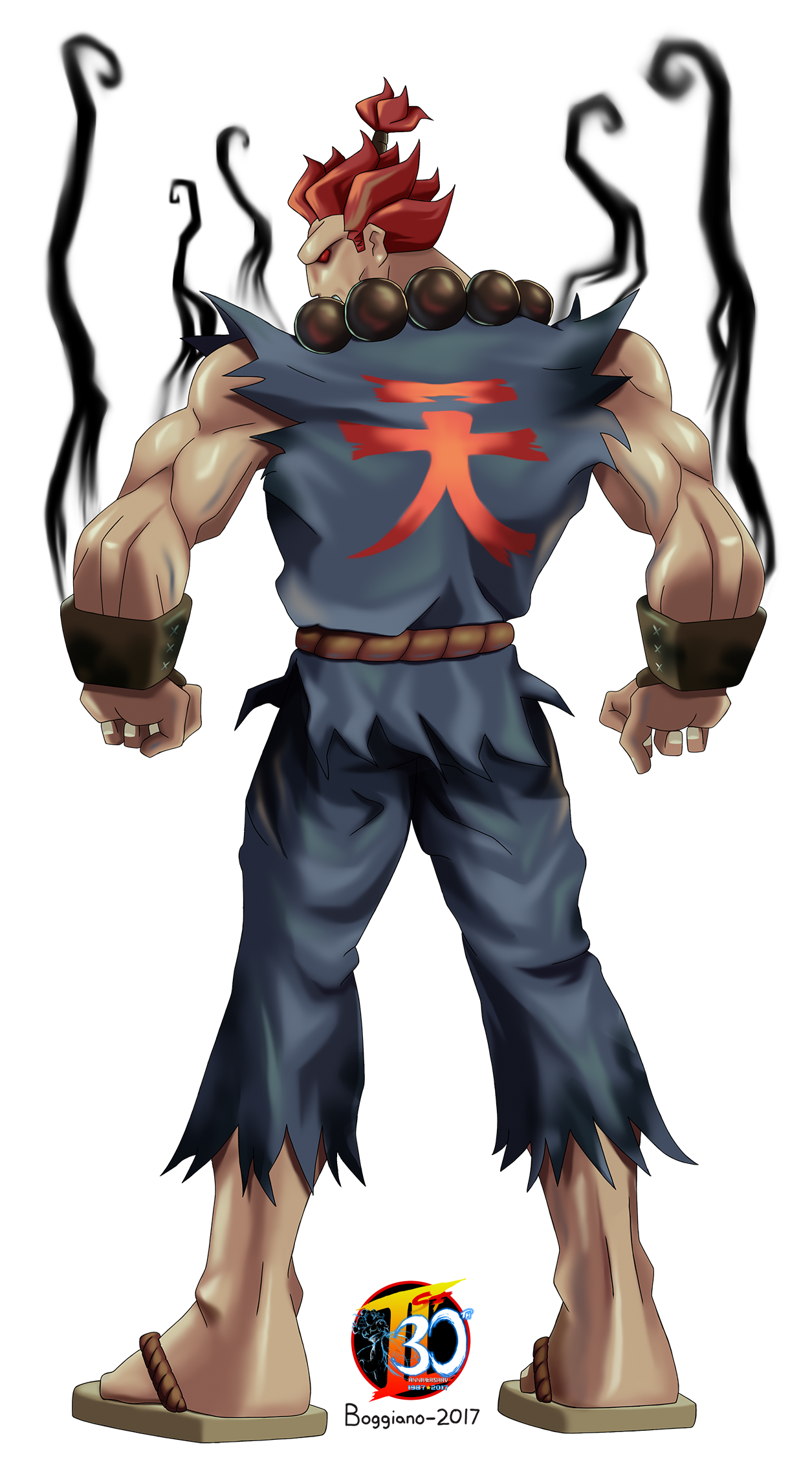 Akuma drawing back. Our street fighter th