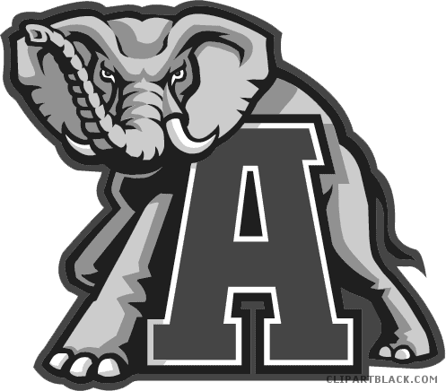 Alabama clipart cool. Elephant clipartblack com animal