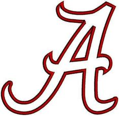 Alabama clipart cool. Awesome stencil crimson tide
