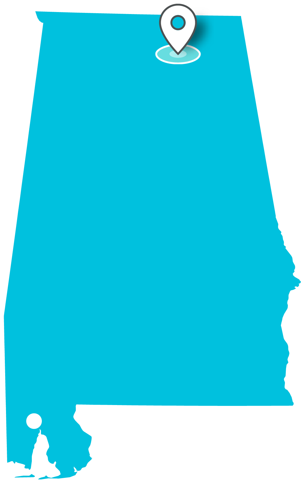 Alabama clipart cool. Locations teklinks map of