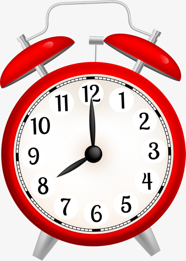 Red clock simple png. Alarm clipart cartoon png black and white
