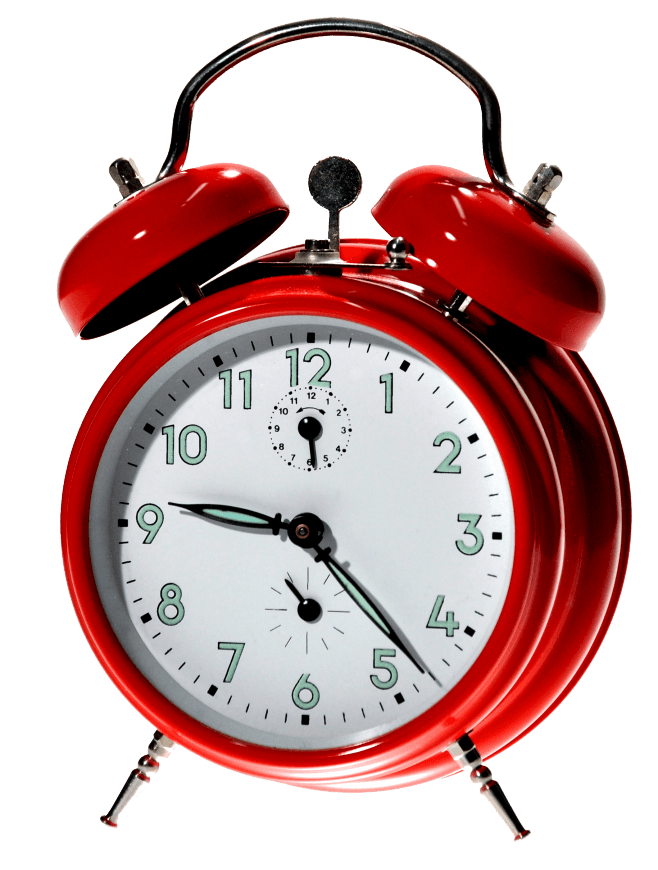 Alarm clock png. Red transparent stickpng objects