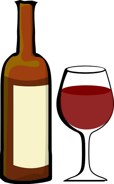 Alcohol bottle cartoon png. Glass of wine with