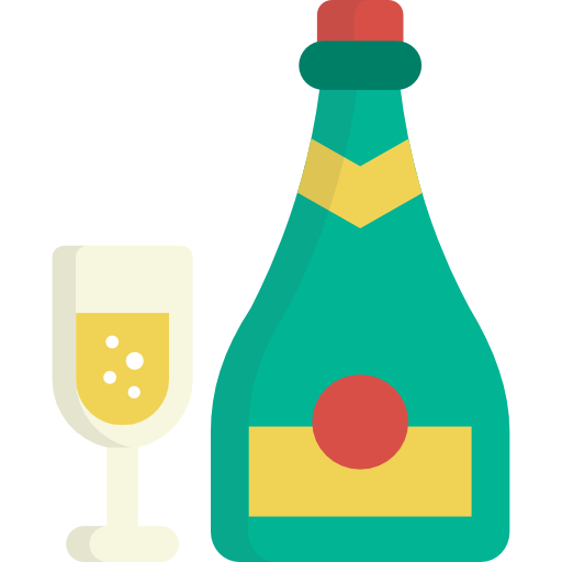 Alcohol bottle cartoon png. Champagne celebration alcoholic drinks