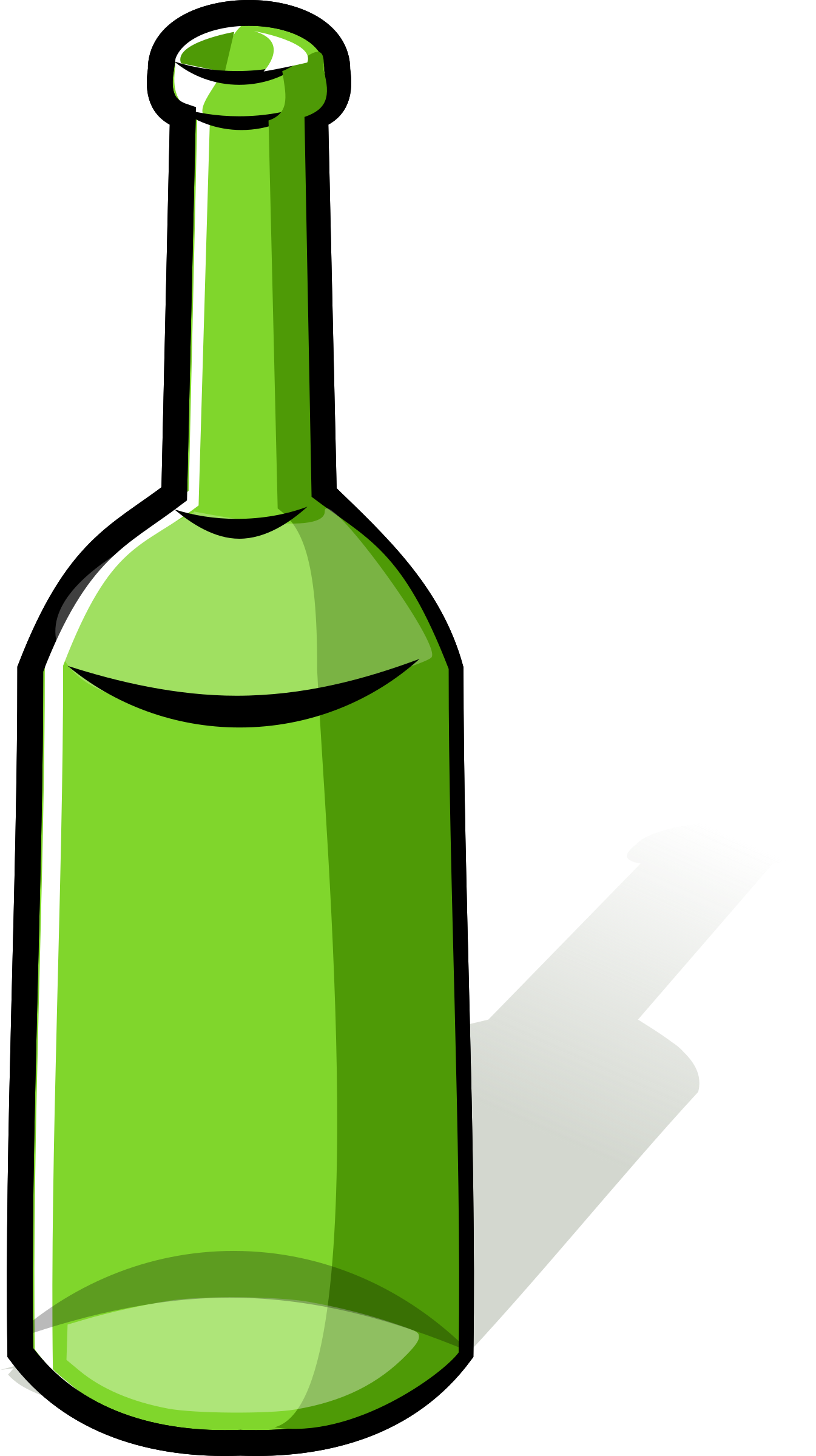 Alcohol bottle clipart png. Green big image