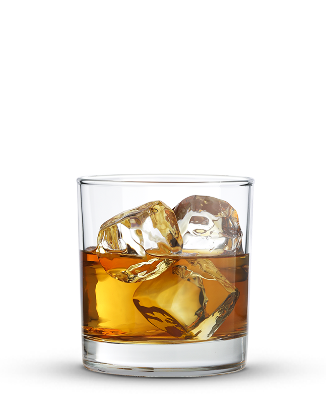 whiskey vector rock glass