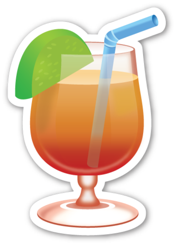Tropical drink pinterest stickers. Beach emoji png clipart download
