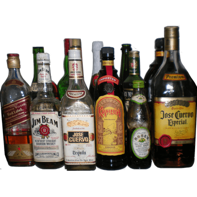 Alcohol png images. Collection of bottles transparent