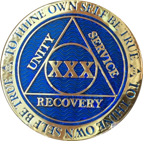 Alcoholics anonymous png. Year aa medallion