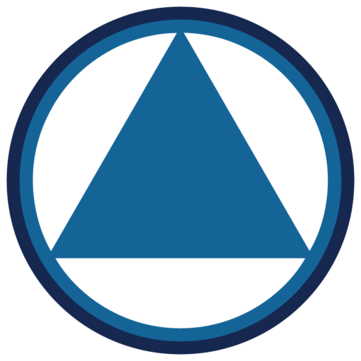 Alcoholics anonymous png. Cropped aa logo blue