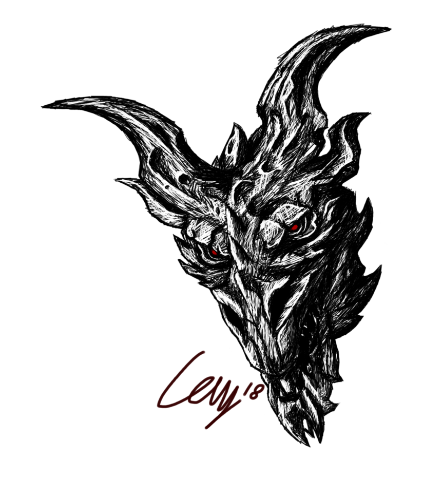 alduin drawing riding