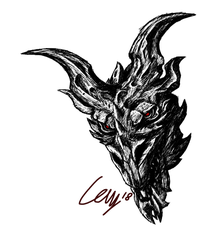 Alduin drawing head. Again by nekothacay on