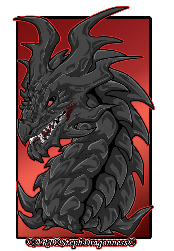 Alduin drawing. Elder scrolls skyrim by