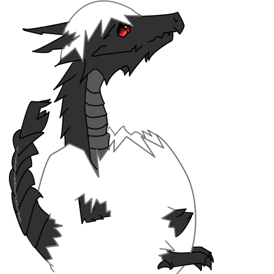 Alduin drawing. Baby by tampereddreams on