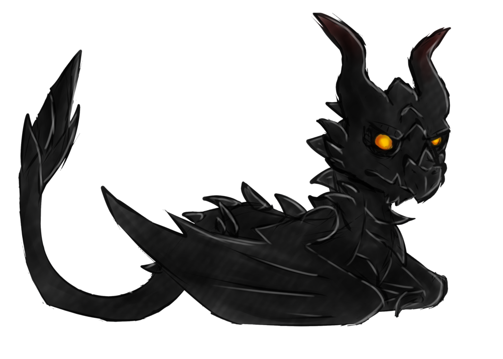 Alduin drawing. Chibi unfinished part by