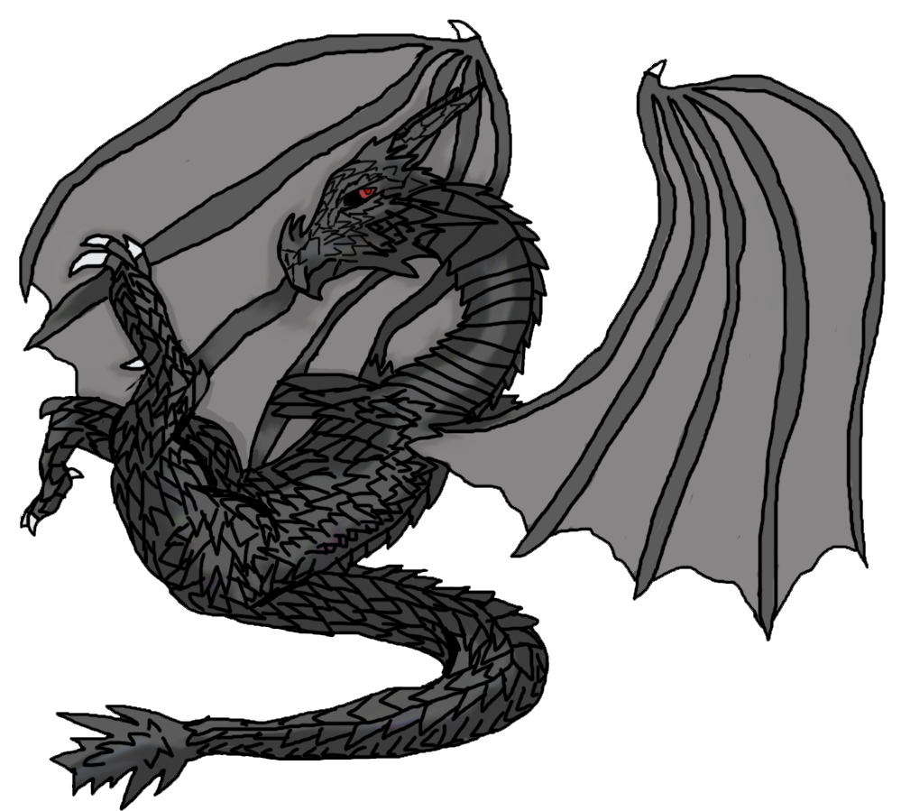 Alduin drawing cartoon. The world eater by