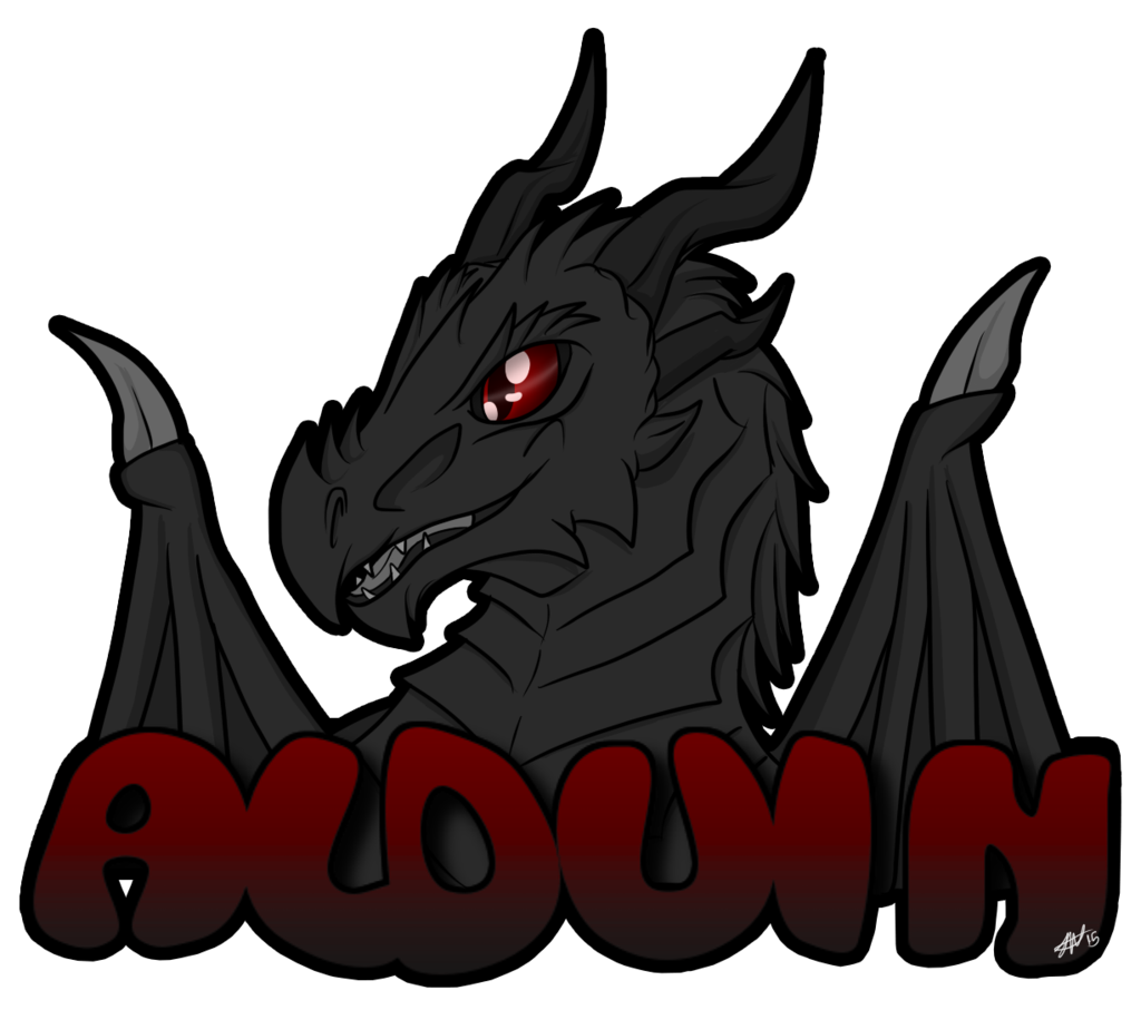 Alduin drawing cartoon. Chibi badge by xfalkenx