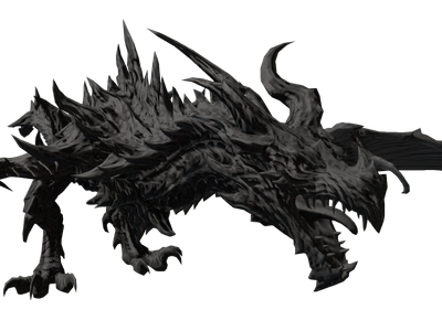 Alduin drawing dragon. D models for free