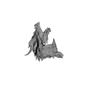 Alduin drawing. D printable dragon