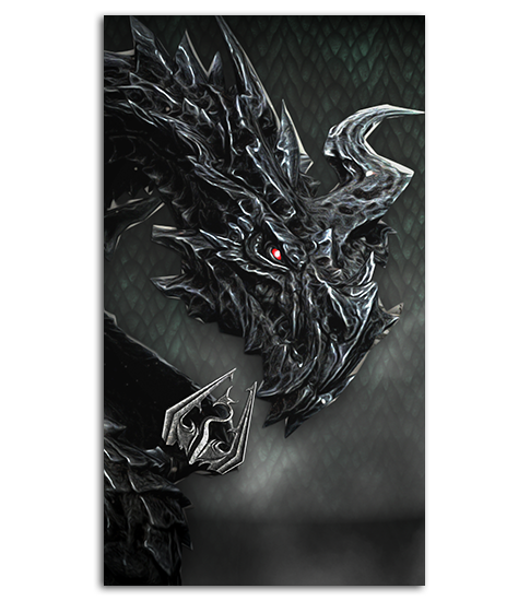Alduin drawing paarthurnax. Mobile wallpaper cool walpapers