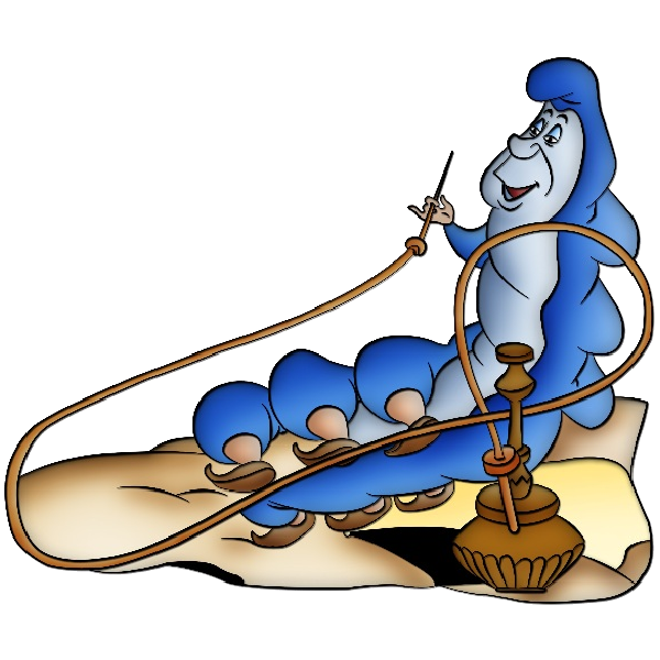 Alice in wonderland caterpillar png. Great companion image to
