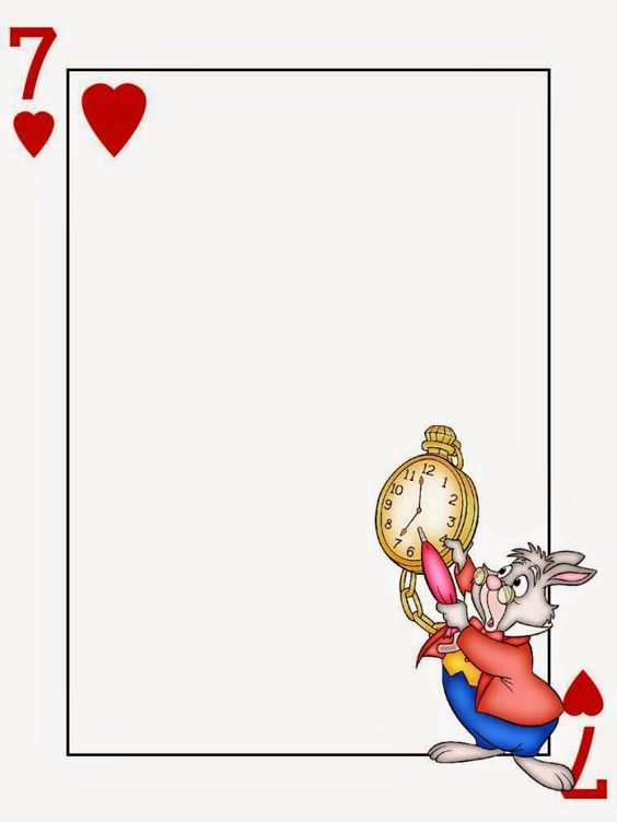 Alice in wonderland clipart wonderland page border. Pin by shaheen shafique