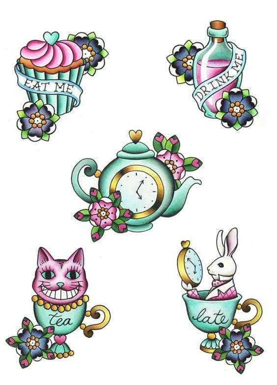 Alice in wonderland clipart wonderland tea set tattoo. Pin by hoops expectations
