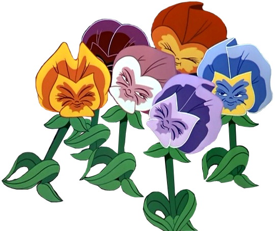 alice in wonderland flowers png