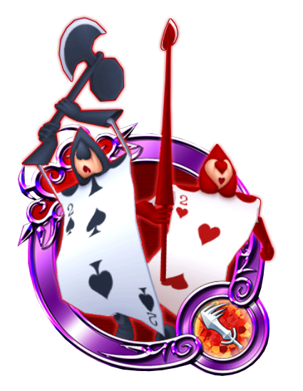 Alice in wonderland playing cards png. Card kingdom hearts unchained
