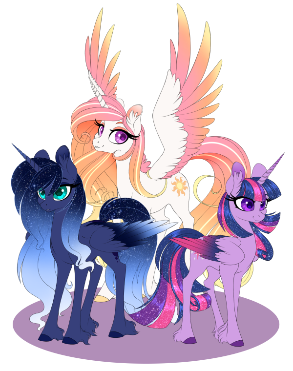 Redesigns by olivine my. Alicorn drawing anime vector royalty free library