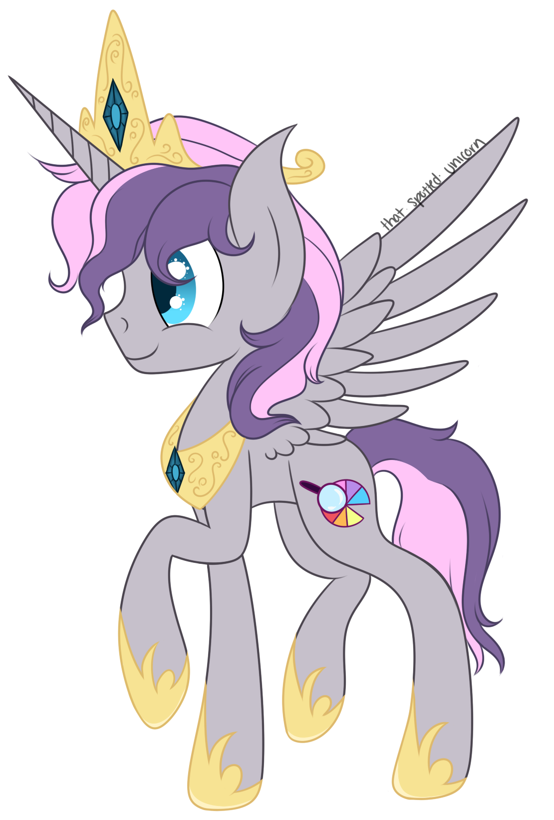 Alicorn drawing cartoon. Gift princess digibrony by