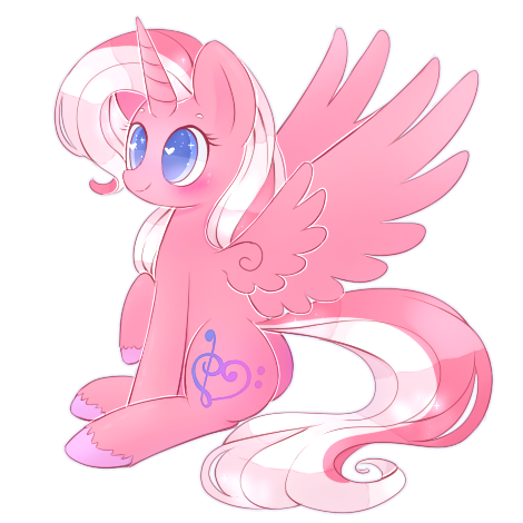 Alicorn drawing cartoon. Cute commission by riouku