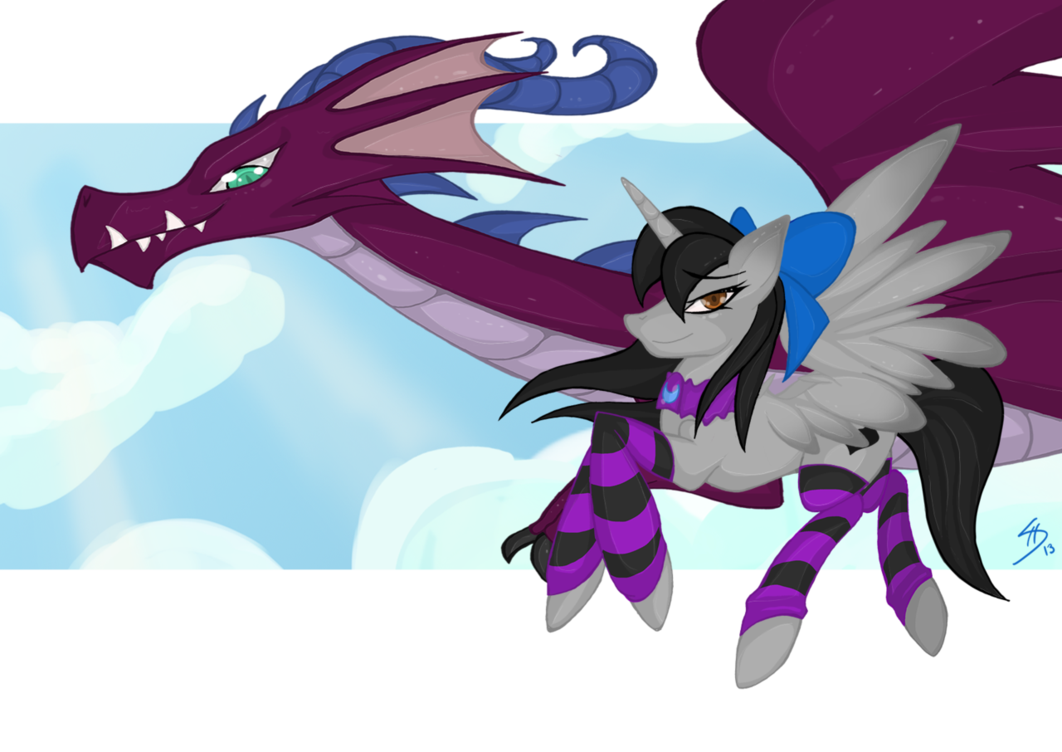 Alicorn drawing dragon. A and an request