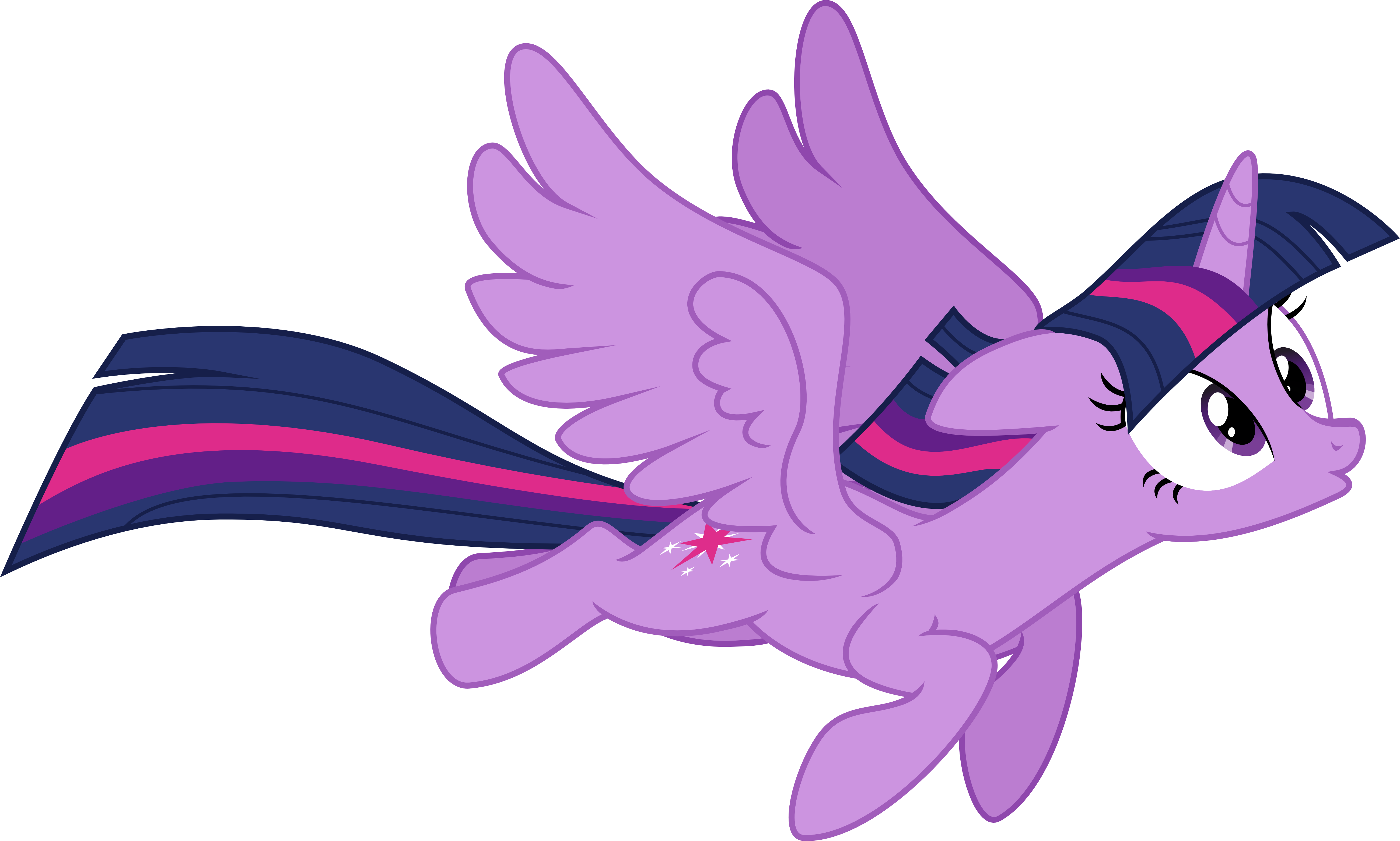 Alicorn drawing flying. Twilight by vector brony