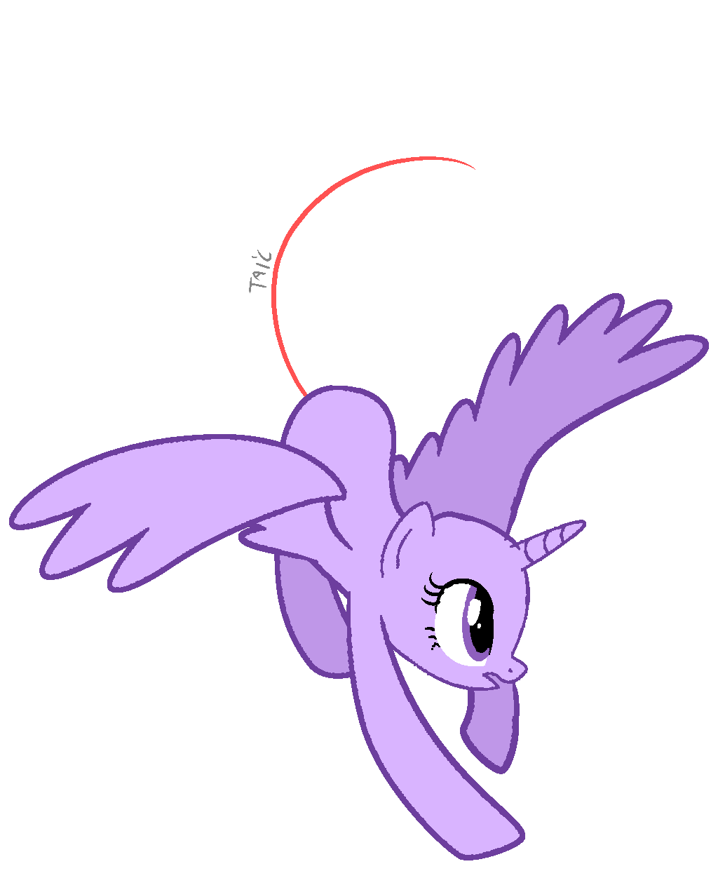 Alicorn drawing flying. Base by rubyg on