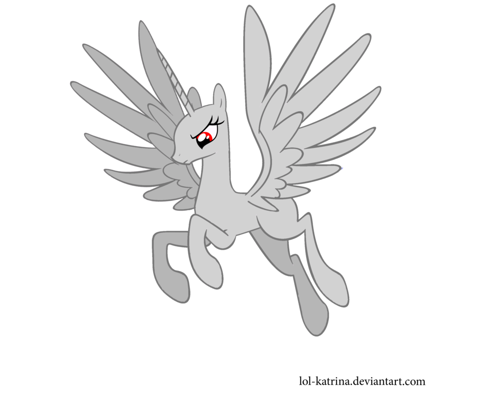 Alicorn drawing flying. Princess mlp base by