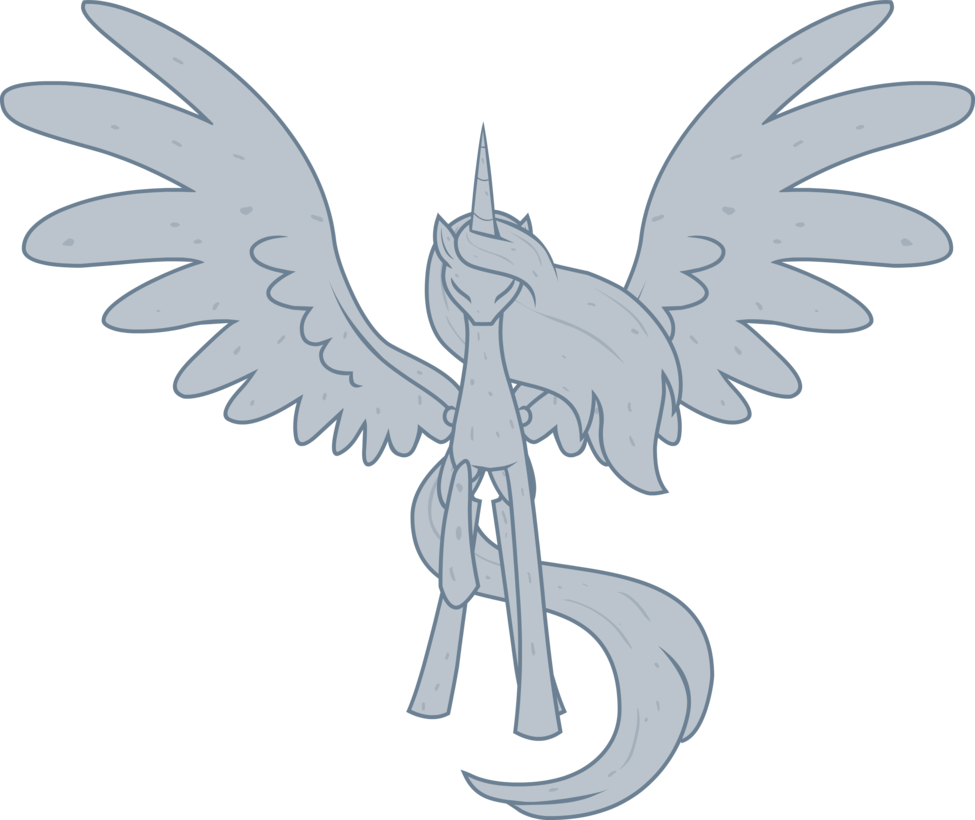 Alicorn drawing guide. Mlp statue free stock