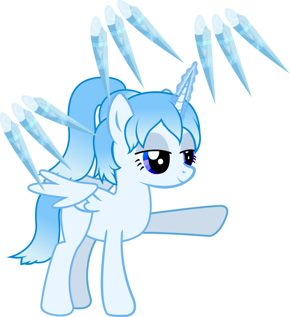 Icicles drawing spikes. Alicorn oc artist