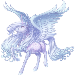 Image spirit png valley. Alicorn drawing ice clip art free stock