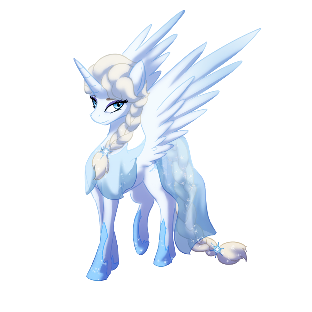 alicorn drawing snow