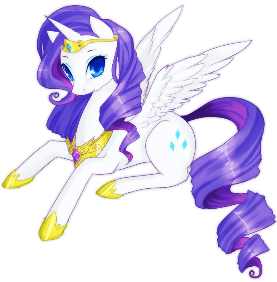 Alicorn drawing mythical creature. Rarity by raidiance on