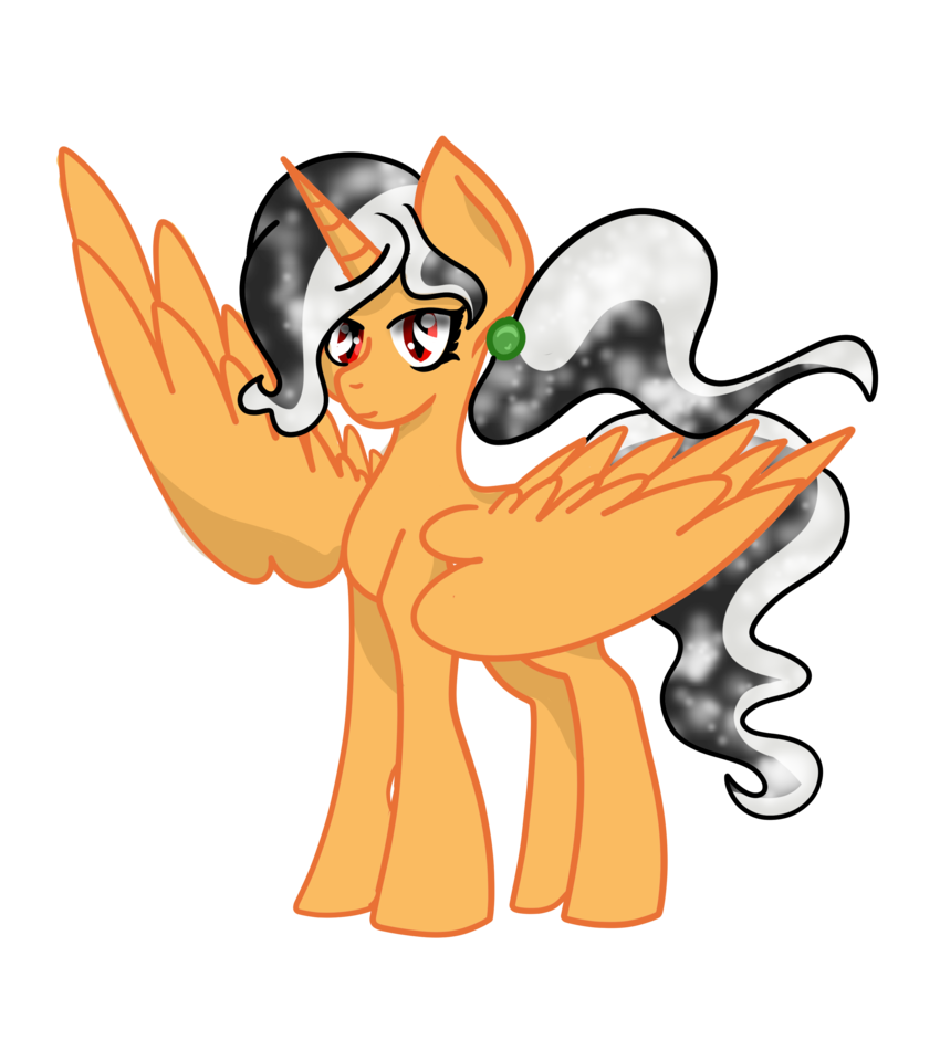 Alicorn drawing night. Mlp oc silent by