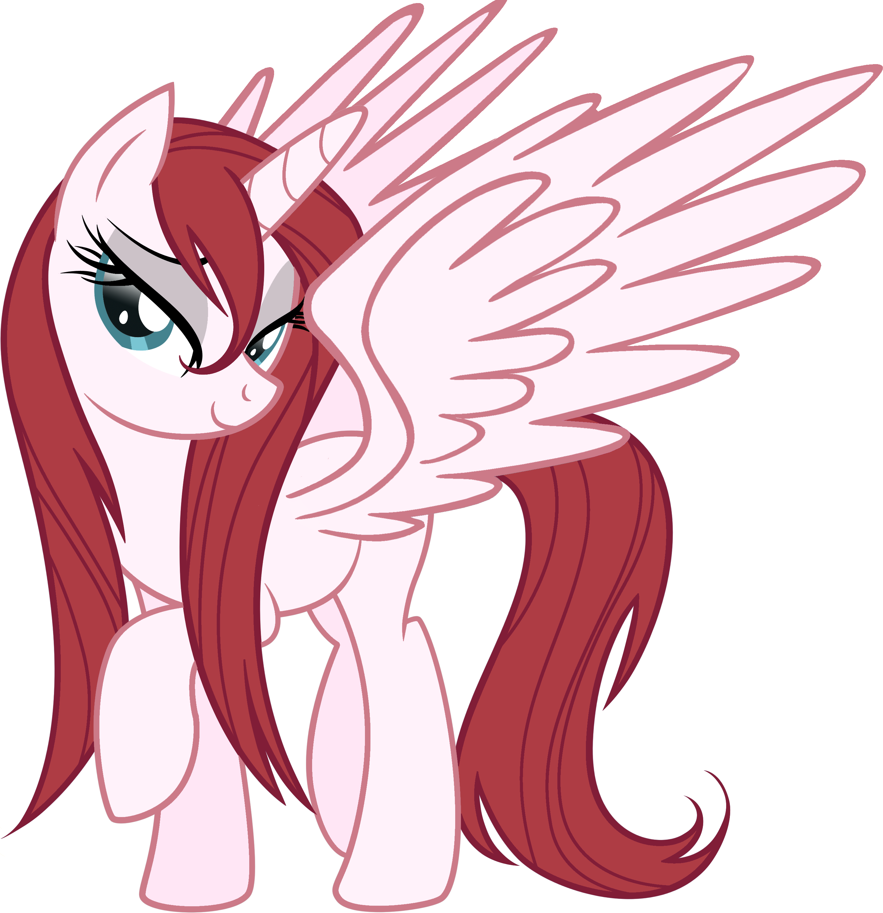 Alicorn drawing red. Image my little pony