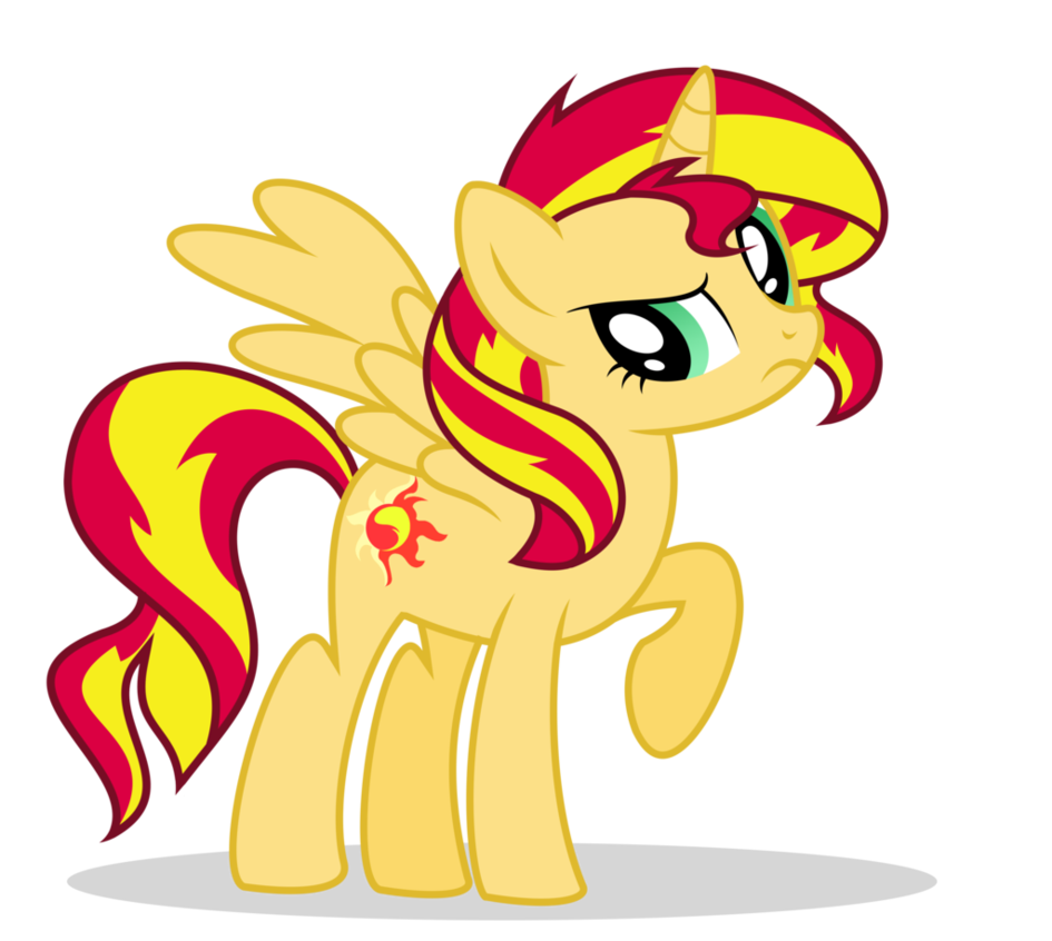 Alicorn drawing sunset. Shimmer is an by